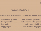 Gueume Yalla, Diayanté, Dioub, Liguèye : 4points soulevés par Cheikh Abdoul Ahad Mbacké